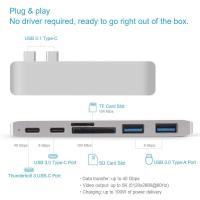 Buy cheap 7 in 1 Dual Type-C Docking Station Thunderbolt 3 Hub for 2016/2017 MacBook Pro with 100W Power Delivery USB-C Adapter from wholesalers