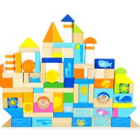 Buy cheap Creative Thinking Ocean Scene / Whale / Wheel Safe Round Children Wooden Building Blocks from wholesalers