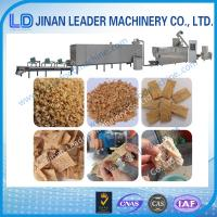 Buy cheap Low consumption soybean protein soya nugget food extruder machine from wholesalers