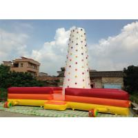 Buy cheap Children Inflatable Climbing Mountain 9 X 9 X 8m white inflatable rock climbing wall with fence around from wholesalers