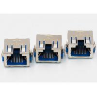 Buy cheap EMI Gasket Right Angle RJ45 Connector , PCB 8P8C Right Angle RJ45 Coupler from wholesalers