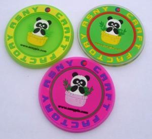 3D soft pvc rubber Coaster Manufactures