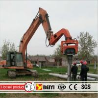 Buy cheap 300mm PC  pipe pile excavator hydraulic high frequency vibratory pile hammer/driver from wholesalers