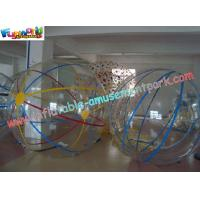 China Custom outer color line PVC or TPU Inflatable Zorb Ball with durable button on water on sale