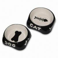 Wholesale Ceramic Pet/Dog/Cat Bowl, Available in Two Different Sizes, Dishwasher Safe from china suppliers