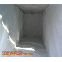 Buy cheap PE Dumpster Container Drawstring Liners,8 Mil Black Open Top Drawstring Dumpster Container Liners,Polyethylene roll-off from wholesalers