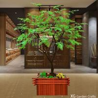 Quality Light Weight Washable Artificial Green Maple Leaves For Pub Decoration for sale