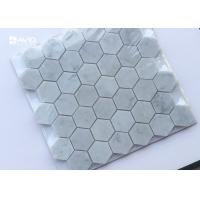 Wholesale Hexagon Carrara Marble Mosaic Wall Tile 42pcs Sheet No Chemical Tight Structure from china suppliers