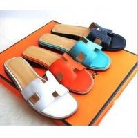 Cheap Hermes 2014 Genuine leather colorful women fashion slippers ,Replica women shoes Manufactures