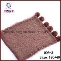 Buy cheap Double Knitting Pompon Scarf (Q06-3) from wholesalers