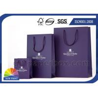 Buy cheap Large / Medium / Small Printed Paper Bags With Handles , Reusable Shopping Bag from wholesalers