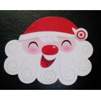 Wholesale Popular Christmas Custom Design Plastic PVC Flocking Velvet Cards with ISO standard from china suppliers