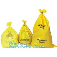 Buy cheap Biodegradable Medical Drawstring medical biohazard waste disposal supplies LDPE plastic autoclave bags, bagease, pac, sa from wholesalers