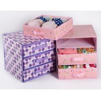 Buy cheap Multideck Print Storage Box Organizing Underwear Drawer Cloth Storage Case from wholesalers