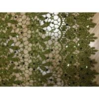 Buy cheap Dark Green Chemical Lace Fabric Cotton ,Eyelet Lace Fabric from wholesalers