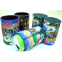 China Custom wholesale neoprene folding can koozie with textured bottom / can chiller huggies on sale