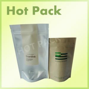 China Aluminum Foil Resealable Zipper Kraft Paper Food Packaging Bags on sale