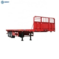 Buy cheap Landing Gear 28 Ton 3 Axles 40ft Flatbed Heavy Duty Semi Trailer With Front Board from wholesalers