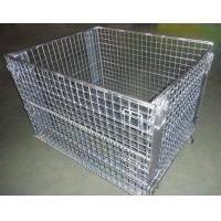 Buy cheap Warehouse Fodable Shelf Welded Wire Mesh Storage Cage from wholesalers