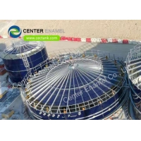Buy cheap Glass Fused To Steel Grain Storage SilosWith Aluminum Deck Roof from wholesalers
