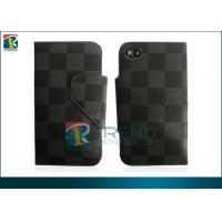 Buy cheap Flip Lichi Leather Iphone 4 Protective Cases  Hard Cover  Customized Fashionable from wholesalers