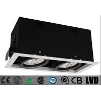 High CRI 2*20w Double Head Commercial Led Downlight Lamps High Brightness