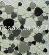 Wholesale Heart-shape Crystal Mosaic, 4 or 8mm Thickness,White Black from china suppliers