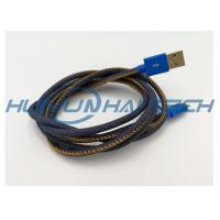 Buy cheap High- end Mfi Jean Cloth Heat Resistant Wire Sleeve For Denim Usb Cable Harness from wholesalers
