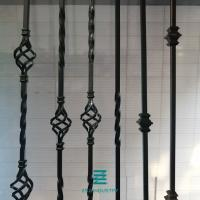 Buy cheap Satin Black Color Metal Electric Fence Posts Single Knuckle Iron Balusters from wholesalers