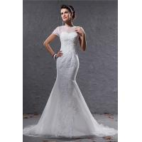 Buy cheap Fashionable 2013 Short Sleeve Romantic Lace Wedding Gowns Dresses for Girls / Ladies from wholesalers