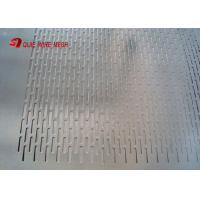 Buy cheap Standard  Hexagonal shape perforated stainless steel sheet suppliers for corrugated pipe from wholesalers