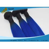 Blue 7A Grade Virgin Real Human Hair Extensions Straight 8 Inch To 32 Inch