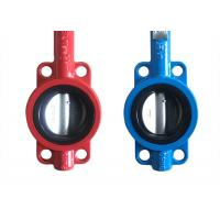 Wholesale API609 Butterfly Ductile Iron Valves Body Cast Flange Valves Seal Test from china suppliers