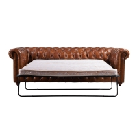 Buy cheap Customized Vintage Leather Sofa Bed from wholesalers