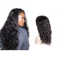 Buy cheap 1B Black Human Hair Lace Front Wigs , Dyed Natural Looking Lace Front Wigs from wholesalers