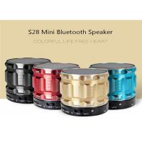 Buy cheap S28 Metal Mini Bluetooth Speaker Portable Wireless Stereo Subwoofer Steel Loudspeaker With Mic FM Radio TF Card Slot AUX from wholesalers