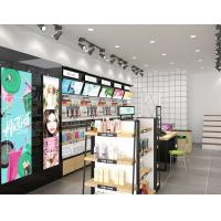 Buy cheap Multi Layers Cosmetic Display Shelves For Beauty Shop Floor Standing from wholesalers