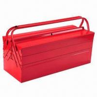 Buy cheap Aluminum toolbox/red stainless steel tool chest, multifunction design, inside with trays from wholesalers
