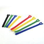 Buy cheap 100% Nylon Buckle Black Hook Loop Cable Tie Wrap 100mm Width , Self-gripping from wholesalers