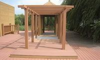Buy cheap Hollow WPC Pergola Construction Steel Support , Backyard Balcony Pergola from wholesalers