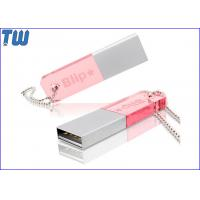Buy cheap Colorfull Acrylic Cool Slim 64GB Pen Drive Memory Disk Free Ball Chain from wholesalers