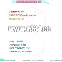 Buy cheap 100% U381 LIVE DATA Scanner Auto Code Reader OBD2 U381 from wholesalers