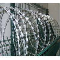 Buy cheap Concertina Razor Wire Stainless steel Double Cross Barbed Wire from wholesalers