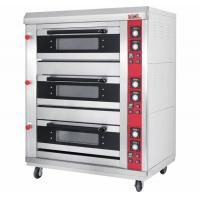 Buy cheap 3 Layer 6 Tray Gas Baking Ovens with Window Door Mechanical Controller Timer from wholesalers