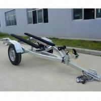 Buy cheap Watercraft Trailer with Wooden Craft Safety Chain, Galvanized Steel Frame and 500kg Loading Capacity from wholesalers