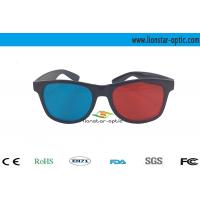 Buy cheap theatre anaglyph 3d glasses with plastic frame from wholesalers