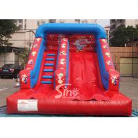 Buy cheap Grand opening kids red clown inflatable slide with full digital printing for sale from wholesalers