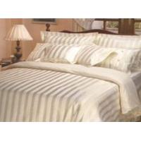 China King Size Cotton Satin Strip Quilt Cover Set for Home (LJ-X73) on sale