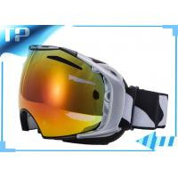 Buy cheap Frameless Neon White Womens Custom Snow Goggles Design For Skating from wholesalers
