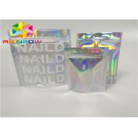 Buy cheap printing zipper plastic mylar foil ziplock packaging hologram laser holographic stand up zip pouch bag for gift/bottles from wholesalers
